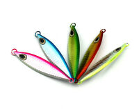 5pcs Durable Metal Fishing Micro Butterfly Jig Slow Lures 5colors 20G