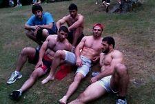 Shirtless Male Beefcake Muscular Athletic Greek Wrestlers Hunks PHOTO 4X6 C1930