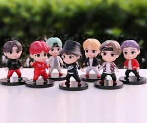 7Pcs TINY TAN BTS Cartoon Doll Car Doll Favorites Decoration Children Toys