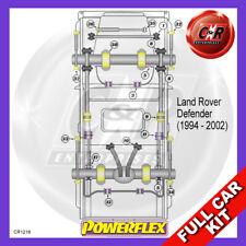 Defender 90 V8Efi+Td5 94-02 FrARB25, FrArmRrNoPull, BStops Low40mm Powerflex Kit