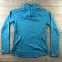 Under Armour Heat Gear Womens 1/4 Zip blue Pullover Semi-Fitted size medium B216