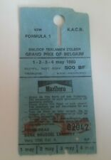 1980 BELGIAN GRAND PRIX TICKET - FORMULA 1 (F1)