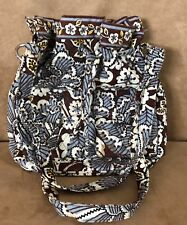 Slate Blooms Vera Bradley purse retired handbag quick draw bucket bag brown
