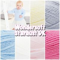 Stylecraft Wondersoft Stardust DK Double Knitting Sparkle Pastel Baby Yarn 100g