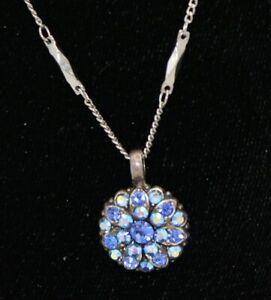 Mariana Guardian Angel Necklace Blue Swarovski Crystal