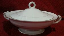Johnson Bros England Covered Soup Tureen Crown Mark Gold Trim