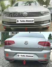 Fits VW Passat B8 Saloon 2014 Up Front Rear Bumper Streamer Chrome Accessories