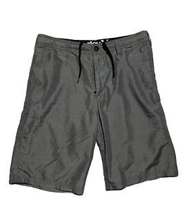 Hurley Swim Trunks Board Shorts Gray Men's Size 30