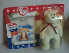 Ty Teanie Beanie Liberty Bear Sealed Amerian Trio Collection McDonald's