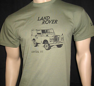 LAND ROVER Series 3 T-SHIRT - 5 sizes in Olive Green or Khaki - Series III