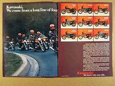 1977 Kawasaki Z1000 KZ750 KZ650 KZ400 KZ200 Motorcycles photos vintage print Ad