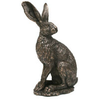 Hare Sitting Tight Figure. Country Art Figure Ornament Collectable.