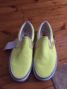 VANS CLASSIC Gr:41 SLIP-ON SNEAKERS Unisex GELB HALBSCHUHE Neu Skate Schuhe