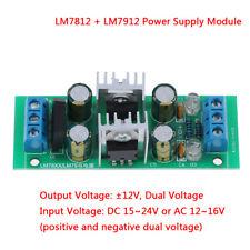 LM7812 + LM7912 ± 12V de doble puente Rectificador Regulador de Voltaje Módulo de Fuente de alimentación