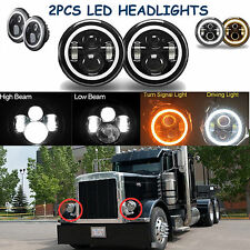 "For 05 Freightliner Century 95 Peterbilt 379 EXHD 359 Old Style 7"" LED Headlight"