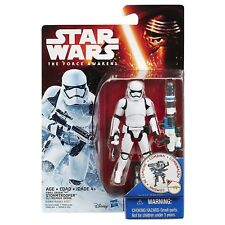 "Star Wars The Force Awakens 3.75"" Figure Snow First Order Stormtrooper + Blaster"