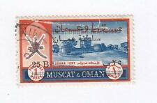 MUSCAT & OMAN # 133c VF-LIGHT USED CAT VALUE $160