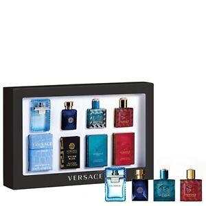 Brand New Sealed VERSACE Mens MINI Fragrance GIFT set 4 X 5ML MINIATURE