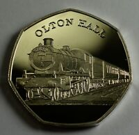 THE OLTON HALL Steam Engine Collectable Medal/Token, Fine Silver Railway
