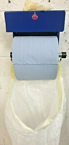 Blue Roll Paper Holder with Latex / vinyl glove box holder and bin bag holder