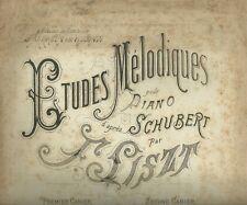 L'Attente Melodie pour Piano d'apres Shubert par Franz Liszt Spartito 1882