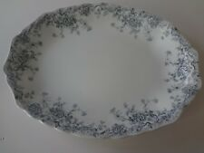 "Antique -Wood & Son -Beatrice Blue  Oval Serving Platter 16"""