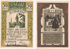 Germany 50 Pfennig 1921 Notgeld Recklinghausen AU-UNC Banknote