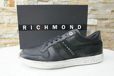 originale RICHMOND Gr 43 Sneakers Scarpe con lacci Scarpe nero nuovo