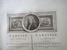 1780 circa-NARCISO AL FONTE quadro di BENEDETTO LUTI-PITTURA-TOSCANA