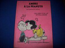 HALLMARK-AMORE A LA PEANUTS LIBRO POP-UP DI CHARLES M.SCHULZ-1972 CARTONATO!RARO