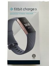 Sealed Fitbit Charge 3 Fitness Wristband - Blue Gray/Rose Gold Small + Large