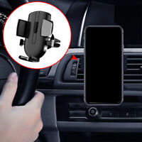 1pc Black Gravity Car Air Vent Mount Cradle Holder Stand Mobile Cell Phone GPS