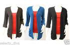NEUF pour femmes tricoté manches longues boyfriend bouton taille de Cardigan 8