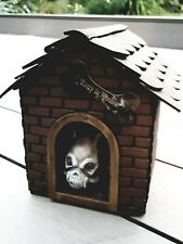 Skeleton Dog House Light up w/Sound Halloween Decoration Outdoor Haunted Scene