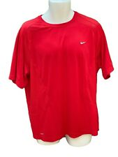 New NIKE TRAINING Mens DriFit Ventilated Stretch Gym Activity Top Shirt Red XL