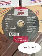 "New listing Sait 23106 6"" x .045 x 7/8"" Cut-off Wheel Box of 150"