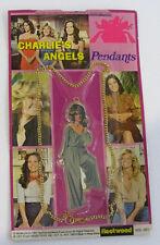 Vintage 1977 Farrah Fawcett Charlie's Angels Pendant Necklace..NEW.....g