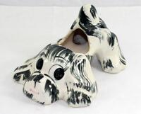 Vintage N.S. Co. Studio Art Pottery Cocker Spaniel Dog Planter Cleveland, Ohio