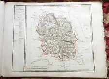 Dépt 48 - Carte Originale de 1790 - Gravure sur Cuivre Aquarellée 73 x 56 cm