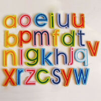 27x Magnetic Wooden Alphabet A-Z Lowercase Letters Fridge Magnets Child Toy h JX