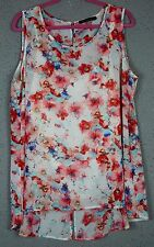 Women's 2X flowered print top by Rose & Olivia NEW W/O TAGS