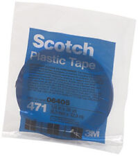 "Scotch Plastic Tape 471 Blue, 1/4"" x 36 yd 3M Company 6405"