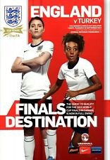 England Ladies v Turkey Ladies programme, Fratton Park, September 2013