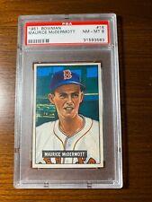 1951 Bowman Maurice Mcdermott Red Sox PSA 8 NM-MT Set Break One day sale