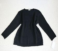 JULIA LAGENLOOK BASIC Pullover EG 44 46 48 schwarz massiv Musterstrick NEU