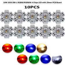 10pcs 10w Xml Rgbw Rgbww Led Light Emitting Diode 5050 4 Chips With 20mm Pcb