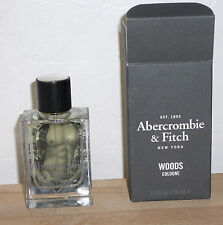 A&F Abercrombie Fitch WOODS Cologne Spray Fragrance for Men 1.7 oz New in Box