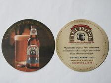Beer Coaster ~ FIRESTONE WALKER Brewery Double Barrel Ale ~*~ Paso Robles, CA