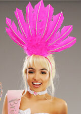 Hen Party Pink Feather Showgirl Headpiece