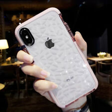For iPhone XR XS Max 6 7 8 Plus Case Shockproof Clear Crystal Diamond TPU Bumper